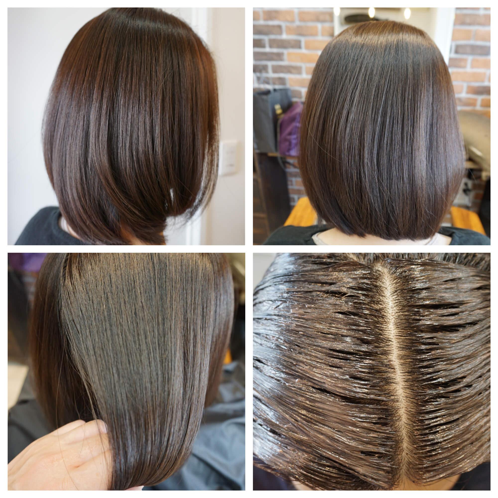 髪質改善 カラー